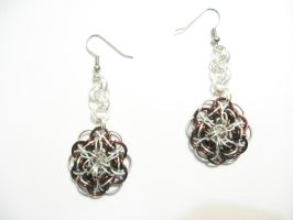 Chainmail Celtic Star Six Sided Earings by Tannalein