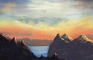 Sunset Mountains-Speedpainting by damjanvisnjic
