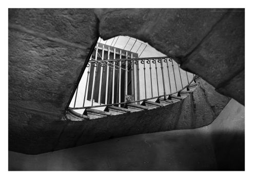 escher's staircase with a cat by toistaitoinen