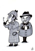 Sherlock Holmes and Watson by Silwy-whisky