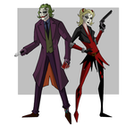 Joker and Harley by bubbagump8