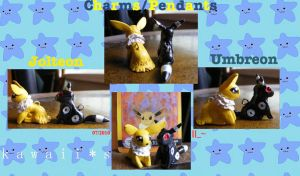 Jolteon - Umbreon Charms by SqueekyClean-801
