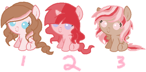 Adoptable baby ponies (ONE LEFT) by SugarMoonPonyArtist