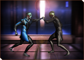 Drell training 02 by RenKrios