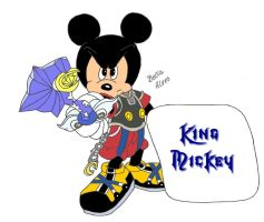 King Mickey - Kingdom Hearts Series by bellaalves