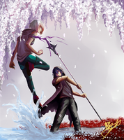 TC: Soren vs Mikaru by celestialelements