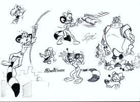 Random RaccToons Sketches by MartonSzucsStudio