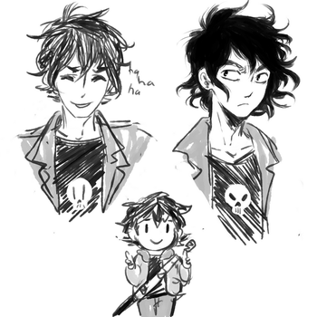 Nico di angelo sketches by sesshyfanchick