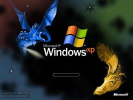 Windows XP Dragon Startup by shikkaba