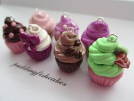 Cupcake Charms by puddingfishcakes