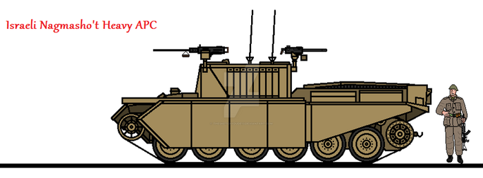 Israeli Nagmasho't Heavy APC by thesketchydude13