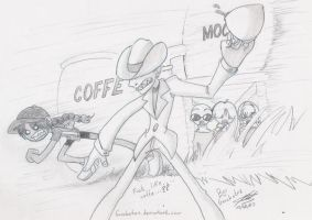 KND op UNDERCOVER - CAFE by Garabatoz