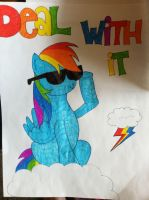 Rainbow Dash Deal With It by Noodletron