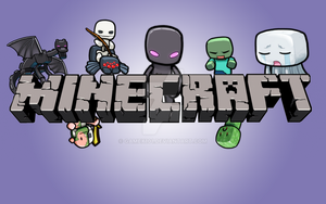 Minecraft Cartoon Wallpapers [15 colors] by Gamex101