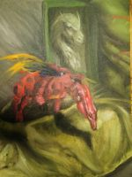 Dragon pieces Oil painting by Khulim