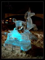 Unicorn in Ice by Leishy