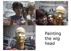painting the wig head by GZLTriforce128