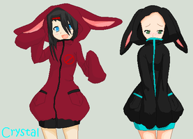 bunny hoodies :OPEN collab: by Allyza-Awesome123