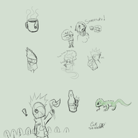 Day 178-186 - Lotsa Sketches by LinkSketchit