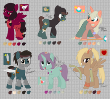RPG Themed Ponies (closed) by perfectnesspony