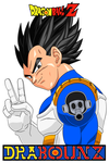 Vegeta with toriyama's logo by DrabounZ