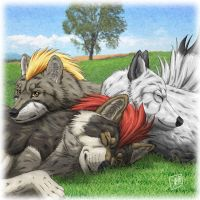 Wolf family by SheltieWolf