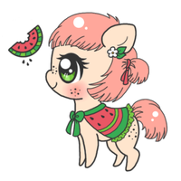 Penelope - Watermelon Pony by Minessa