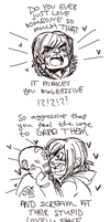 aggressive affection by MrsDrPepper