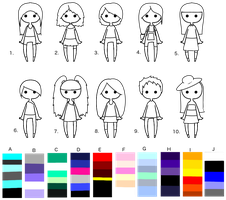 Choose-Your-Own Palette Adoptables! 6+ points! by DailyAdoptables