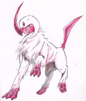 absol shiny by Dormin-Kanna