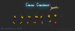Comix Cursors Orange by ZackLeonharts