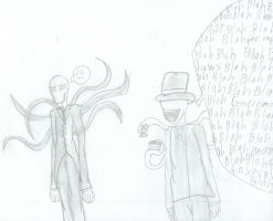 Slendy and capitman by shadowlover40