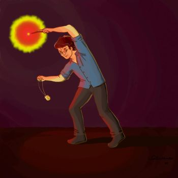 Harry Potter in the cave by Eirene86
