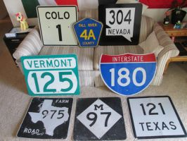 Highway Sign Collection by eon-krate32