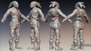 Glower EndWork HighPoly by LexTripper