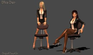 100% pose-able Office Chair by bstylez
