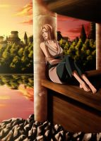 Tsunade - Sad memories by Arya-Aiedail