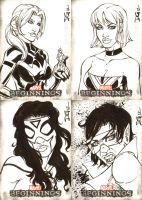 Marvel Beginnings Series III sketch cards 4 by mechangel2002