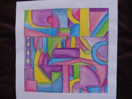Abstract Colored Pencil by QueenzSerenity3