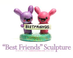 Best Friends Sculpture by xlilbabydragonx