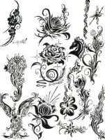 Tattoos and Flowers 2006 by chickengulaman