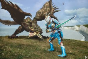 Monster Hunter: Hunting a Rathian by IXISerenityIXI