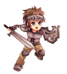 -- Chibi warrior commission for GuardianBR -- by Kurama-chan