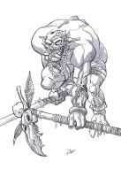 Orc  Line art by g45uk2