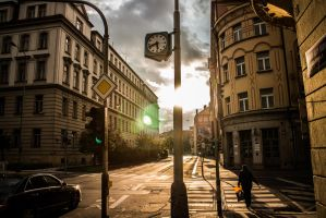 Prague Street by nnaja