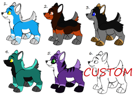 Wolf Pup Adoptables -ALL OPEN- by Twine-Adopts