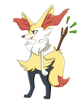 Fennekin Evolution - Braixen by Nestly