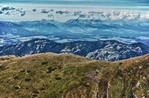 View from Dumbier peak HDR by minko2312
