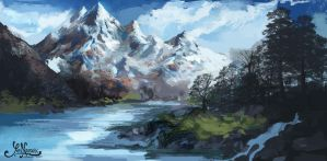Icy Mountains by YoriNarpati