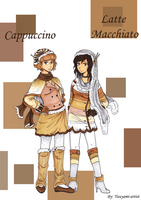 Cappuccino and Latte Macchiato by yuuyami-artist